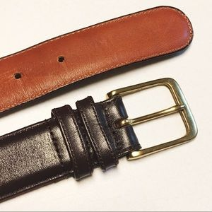 Coach Brown Burnished Cowhide Brass Leather Belt